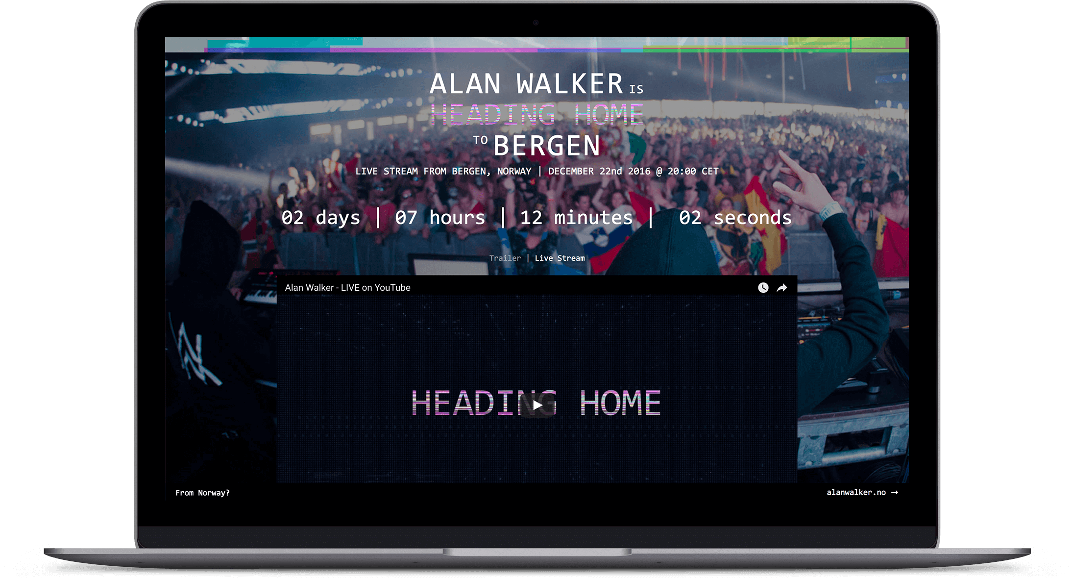 Alan Walker (Heading Home Live)